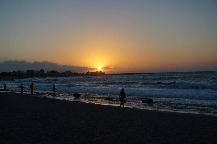 Enjoy the serenity.. Stavros #beach #Chania #Sunset Photo credits: @dr_gorgy