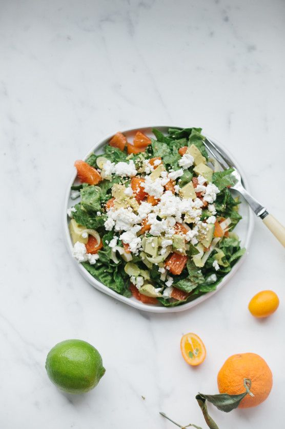 Salad of Cara Cara oranges, avocado, feta // Not Without Salt