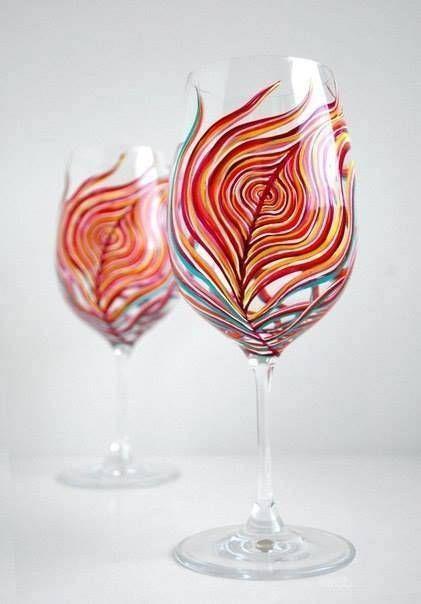 Bardak Boyama örnekleri Kadeh Pinterest Painted Wine Glasses