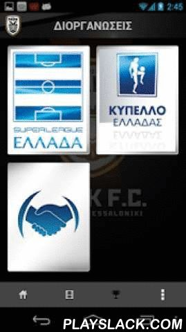 PAOK FC Official Mobile Portal  Android App - playslack.com ,  The official PAOK FC application for Android brings you all the latest from the official site wherever you may be. Connect with PAOK FC world and get first exclusive news, photos, videos, fixtures and much more. The new PAOK FC app offers you a better mobile experience bringing you closer to the club. *Features*• News – Access to all the official news of PAOK FC • Official photo gallery• Results, match reports, statistics• League…