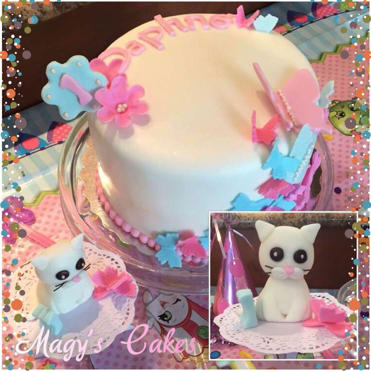 Butterfly Cake with Kitty