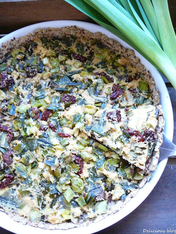 Delicious blog: Pórkový quiche se sušenými rajčaty a tofu
