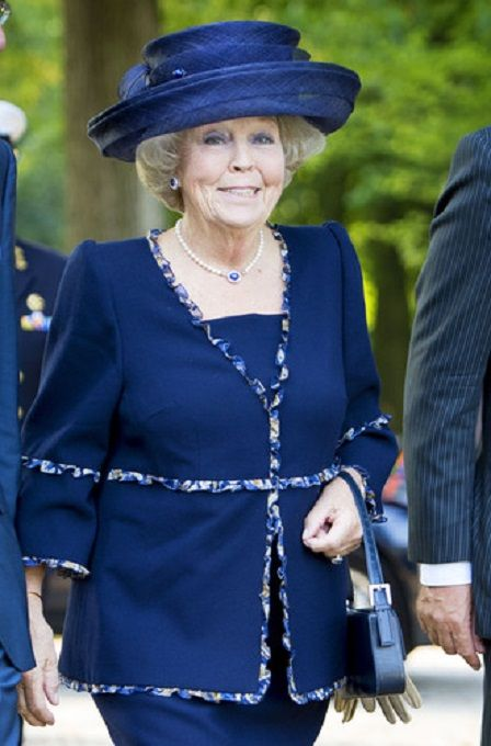 Dutch Princess Beatrix opens the exhibition pavilion about Netherlands and the First World War on the grounds of Huis Doorn in the province of Utrecht, 04.09.2014