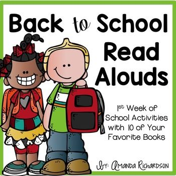 Back to School Read Alouds are PERFECT for your first week or two of school! All you have to add are your favorite back to school books! The activities included help you get to know your students and help you teach procedures.