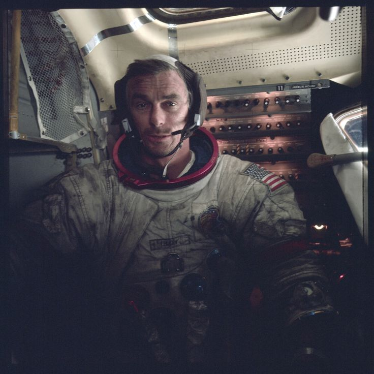 Apollo 17 crew, Commander Eugene Cernan. NASA Photo