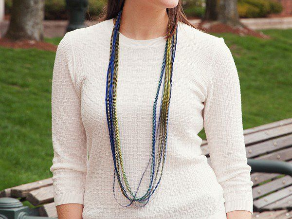 Minimum Design | Multi-color Fabric Statement Necklace