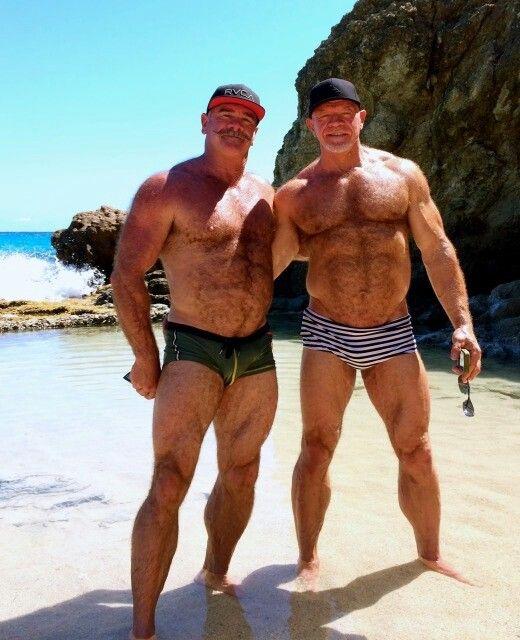 Hairy Muscle Daddies Men Trunks Woof  Bodybuilders -9897
