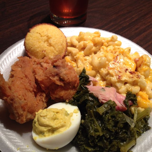 31 best kitchen of the soul food train images on pinterest soul southern sunday dinneried chicken mac cheese greens deviled forumfinder Choice Image