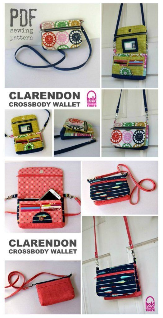 Clarendon Crossbody Wallet sewing pattern