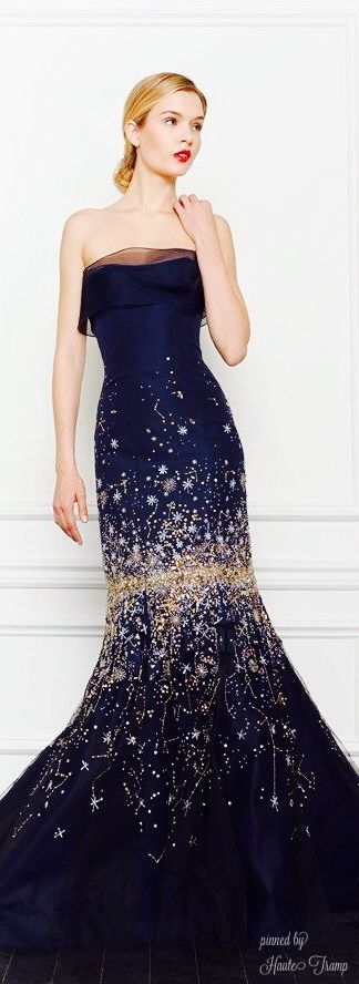 Carolina Herrera Sparkle Midnight Blue Gown of Gorgeous! ht Cassandra? jaglady                                                                                                                                                      More