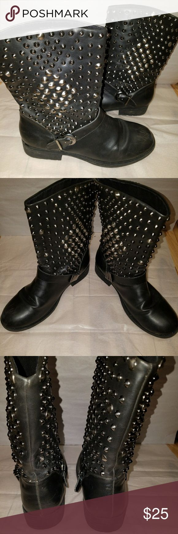 "Deena & Ozzy Moto boots Great condition. 7"" shaft. Deena & Ozzy Shoes Combat & Moto Boots"