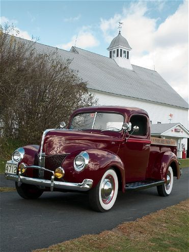 Come check out Jim Lowrey Sr. 1940 Ford Pickup with DuPont Paint and Go-Fast Maroon for the Color, Upholsterer by LeBaron Bonney, featured in the 2007 June issue of Classic Trucks Magazine.
