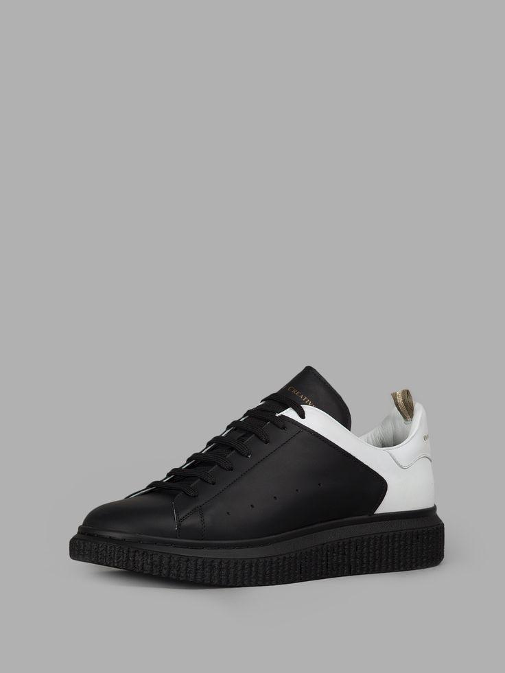 Chaussures De Sport Pour Les Hommes En Vente, Noir, Cuir, 2017, 42 Officine Créatif