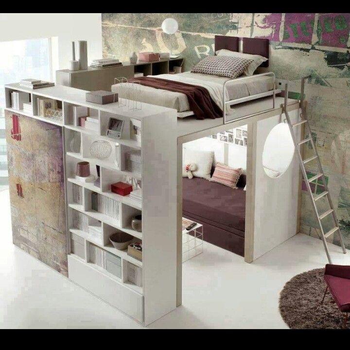 25 beste idee n over kleine appartement slaapkamers op for Appartement 45m2 design