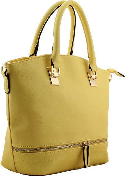Fashion Designer Handbag with Metal Zip Detail