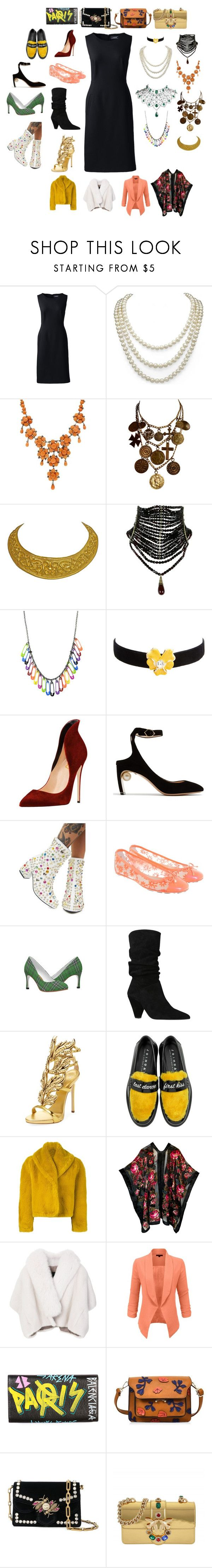 """""""very versatile"""" by rewolf71 ❤ liked on Polyvore featuring Lands' End, DaVonna, Luise, Yves Saint Laurent, Fabergé, Kenneth Jay Lane, Nicholas Kirkwood, Jimmy Choo, Carvela and Giuseppe Zanotti"""