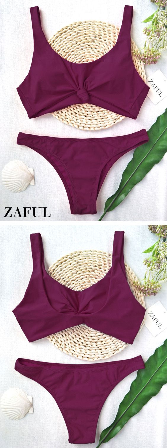 Up to 80% OFF! Knotted Scoop High Cut Bathing Suit . #Zaful #Swimwear #Bikinis zaful,zaful outfits,zaful dresses,spring outfits,summer dresses,easter,super bowl,st patrick's day,cute,casual,fashion,style,bathing suit,swimsuits,one pieces,swimwear,bikini set,bikini,one piece swimwear,beach outfit,swimwear cover ups,high waisted swimsuit,tankini,high cut one piece swimsuit,high waisted swimsuit,swimwear modest,swimsuit modest,cover ups @zaful Extra 10% OFF Code:ZF2017