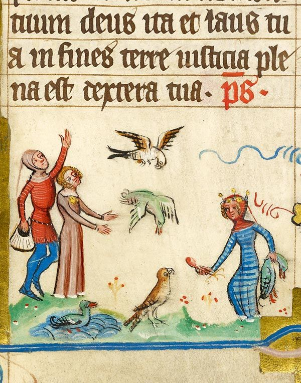 Scene, Sports and Games: Falconry | Missal | Germany, Hamburg | before 1381 | The Morgan Library & Museum