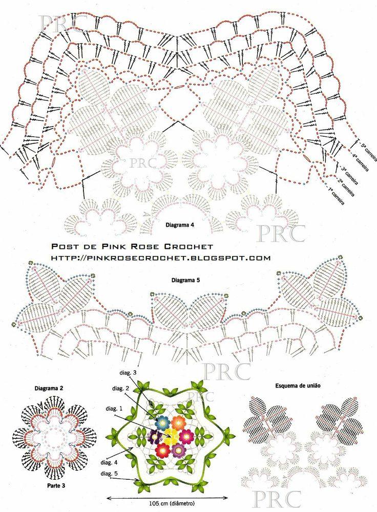 Centrinho+Floral+Folhas+e+Flores+de+Croche+Graf2+-+PRoseCrochet.JPG (1039×1412)