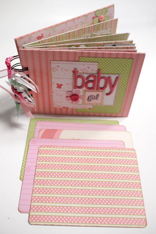 Scrapbook Mini Album  Baby Girl by ScrapbookGallery on Etsy, $25.00