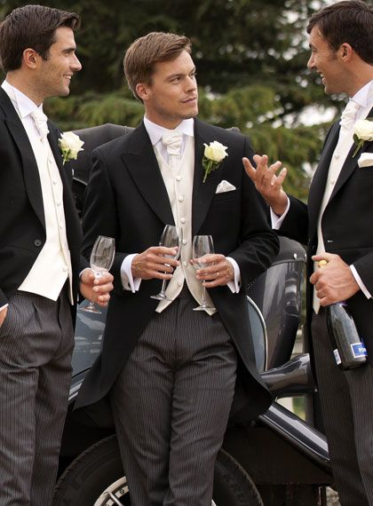 Morning suits men's vintage wedding look