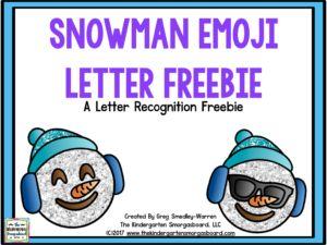 Snowman Emoji Letter FREEBIE!   Smedley's Smorgasboard of Kindergarten   Bloglovin'