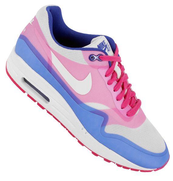 cheap for discount 8da21 605bc ... nike air max 1 hyperfuse sail pink force hyper blue 6 Nike WMNS Air Max  1 . ...