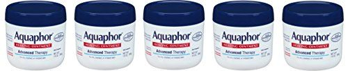 Aquaphor Advanced Therapy Healing Ointment cLCjtD Skin Protectant, 5 Pack (14 Ounce)  #1 Dermatologist recommended for dry, cracked skin, chapped lips, cracked cuticles and dry feet and heels*  Clinically proven to restore smooth, healthy skin  Uniquely formulated with 41% Petrolatum to allow oxygen to flow and help heal the skin  Skin protectant ointment with Panthenol and Glycerin to moisturize, nourish and protect the skin to enhance healing  Protects and helps relieve chapped, dry,...