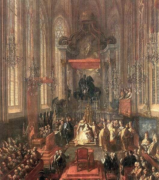 Mária Terézia koronázása a Szent Márton székesegyházban - Maria Theresa - Wikipedia, the free encyclopedia