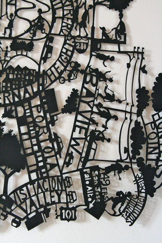 Paper cut artwork