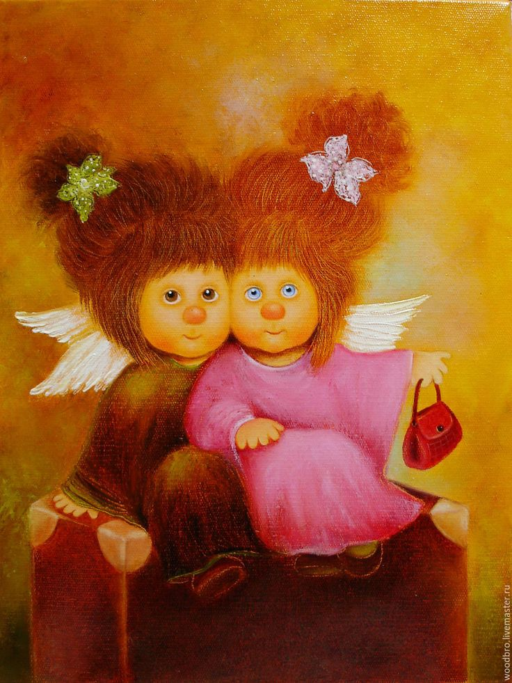 Купить Чемоданное настроение, картина маслом. - чемоданное настроение, ангелочки, работы чувиляевой, картина в подарок