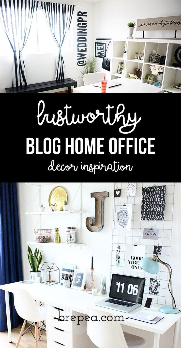 Worthy Blog Home Office Decor Inspiration Bre Pea Homedecor Pinterest Budget Decorating Small Rooms And Budgeting