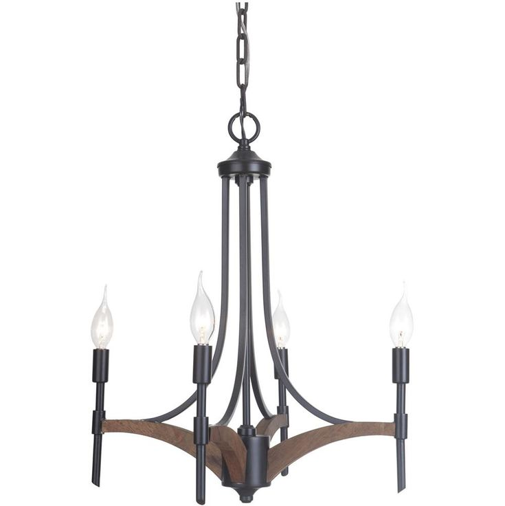 Jeremiah Lighting Tahoe Four Light Chandelier 40324 Transitional Lights