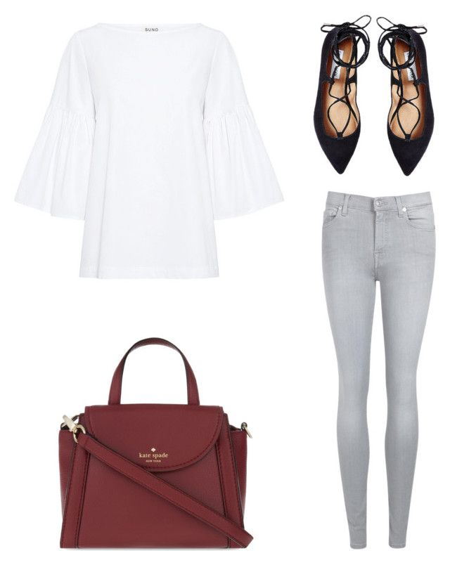 """Untitled #124"" by shanitadinda on Polyvore featuring SUNO New York, 7 For All Mankind, Kate Spade and Steve Madden"