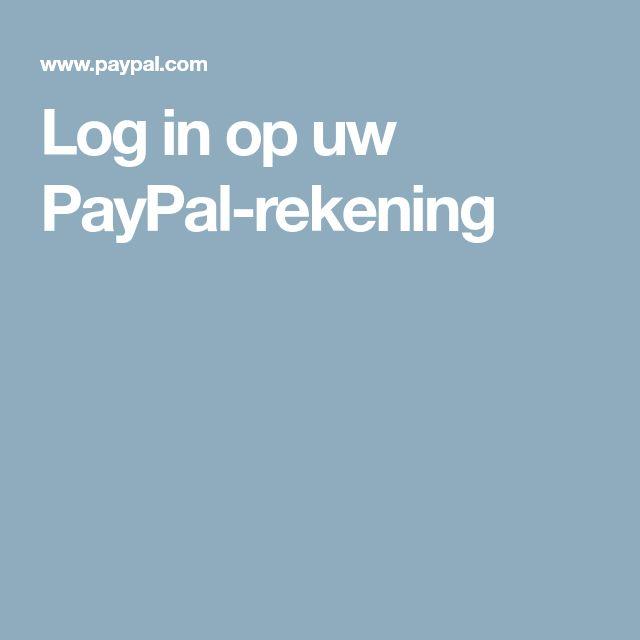 Log in op uw PayPal-rekening