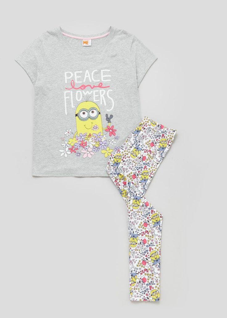 Minions Floral Pyjama Set