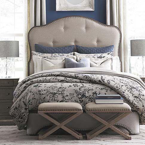 Elegant Bassett Provence Upholstered Bed Discount Furniture At Hickory Park  Furniture Galleries