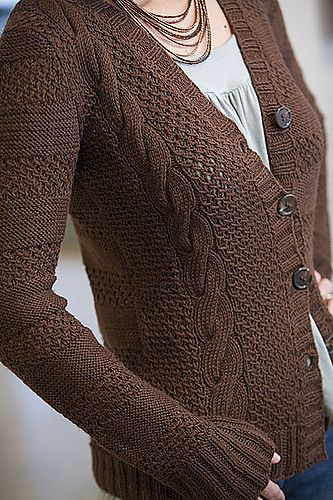 Ravelry: Dollar and a Half Cardigan pattern by Veronik Avery  Good Earth would be a good substitute yarn.
