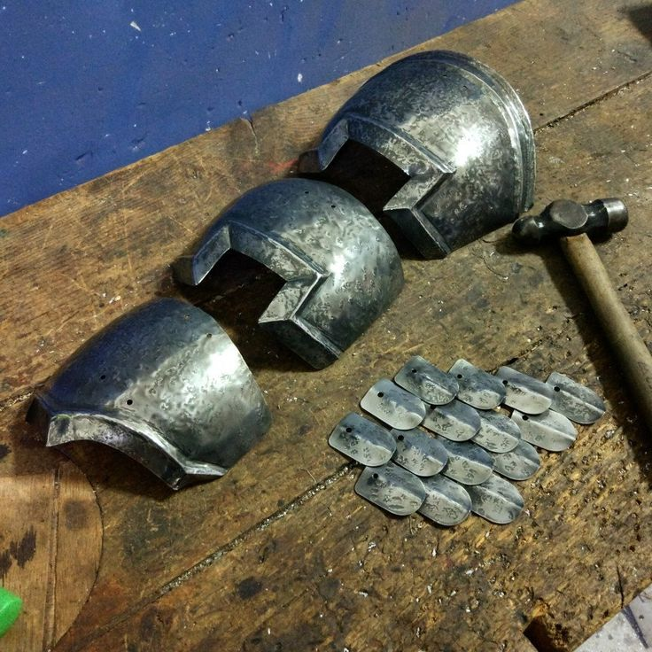 Almost three hours of hard work. Not bad.. .Norse shoulder armor WIP.