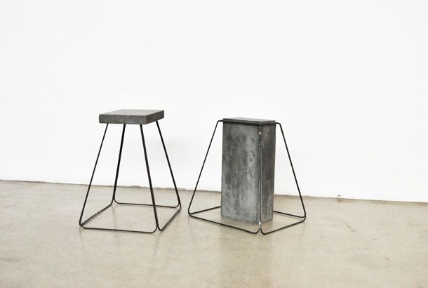 CON-TRADITION - concrete and reinforcing rod stools