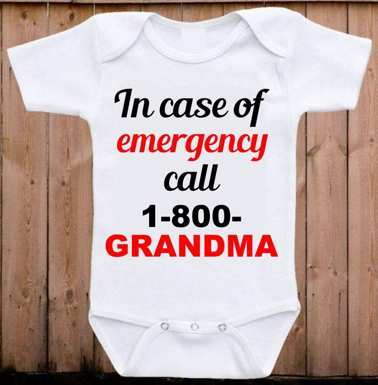 Grandma Onesie I love my Grandma baby onesie Baby Shower Gift Unisex baby clothing Funny Onesie Baby gift for boy or girl by mkclassyprints on Etsy
