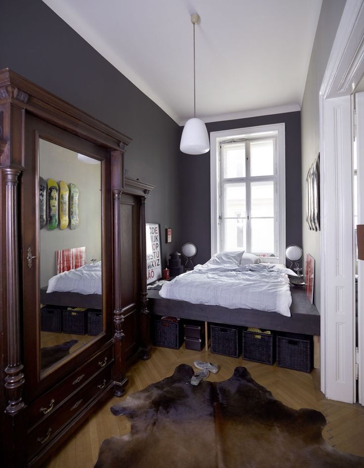 Narrow Bedroom With Plentiful Storage Options IKEA