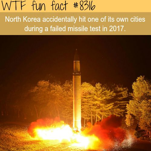 North Korea accidentally hit it's own city - WTF fun facts