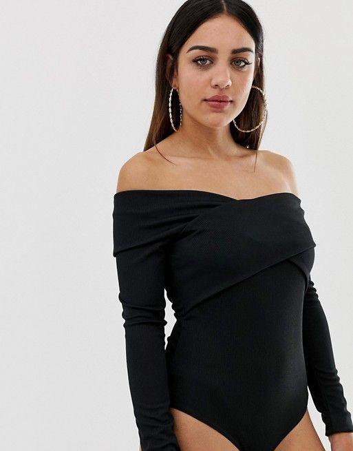 e29958d9ba7 Boohoo wrap bodysuit in black | CHRIHHMUHHH | Bodysuit, Boohoo, Wraps