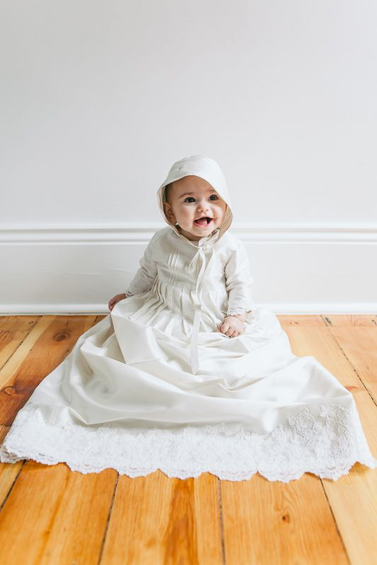 Gracie Jean's Christening gown. Designed by Jaimie Sortino. Photo by Jennifer Sando.