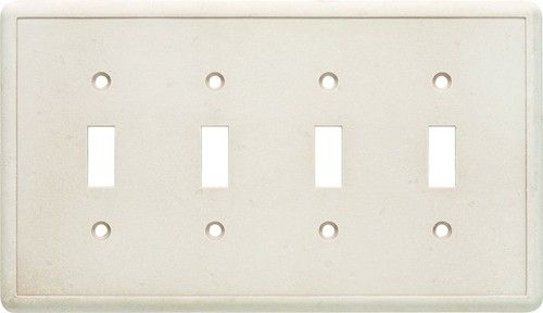 Cast Stone Switchplates - Sand Quad Toggle Wall Plate