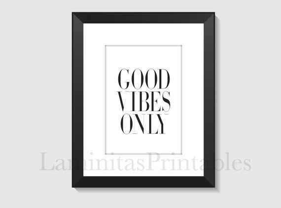 Laminas decorativas - Good vibes only - Good vibes - Good vibes only print - Good vibes only sign - Good vibes only poster
