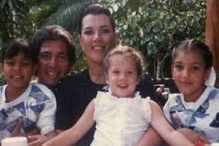 The Kardashian girls when they were cute little girls, Kris and father Robert