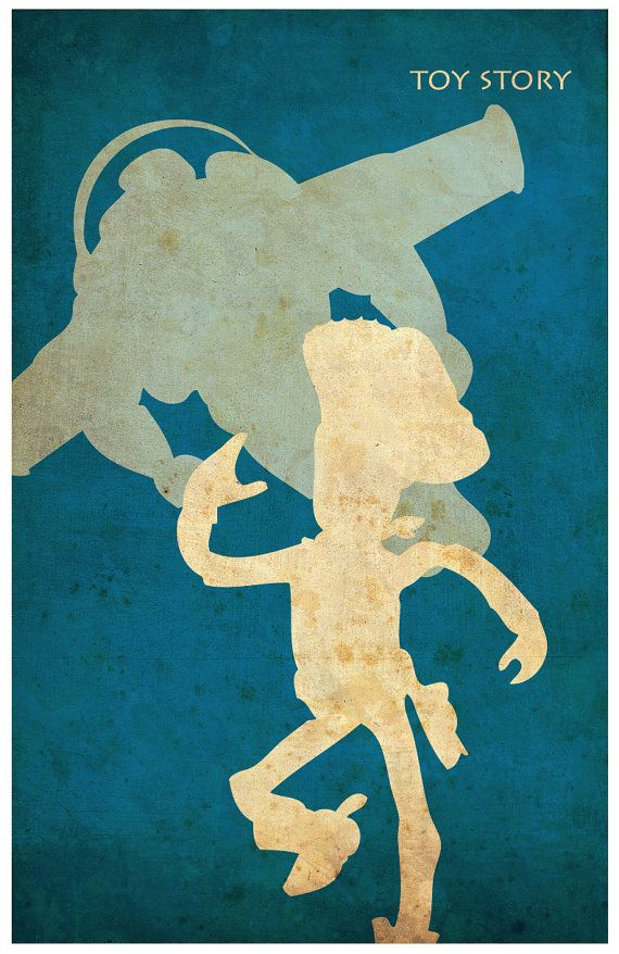 8 x 10 Pixar cartel minimalista Vintage Set por Posterinspired