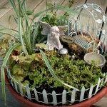 Fairy Garden Starter Accessory Kit Create a secret little spot just for your little fairy in a flower pot.